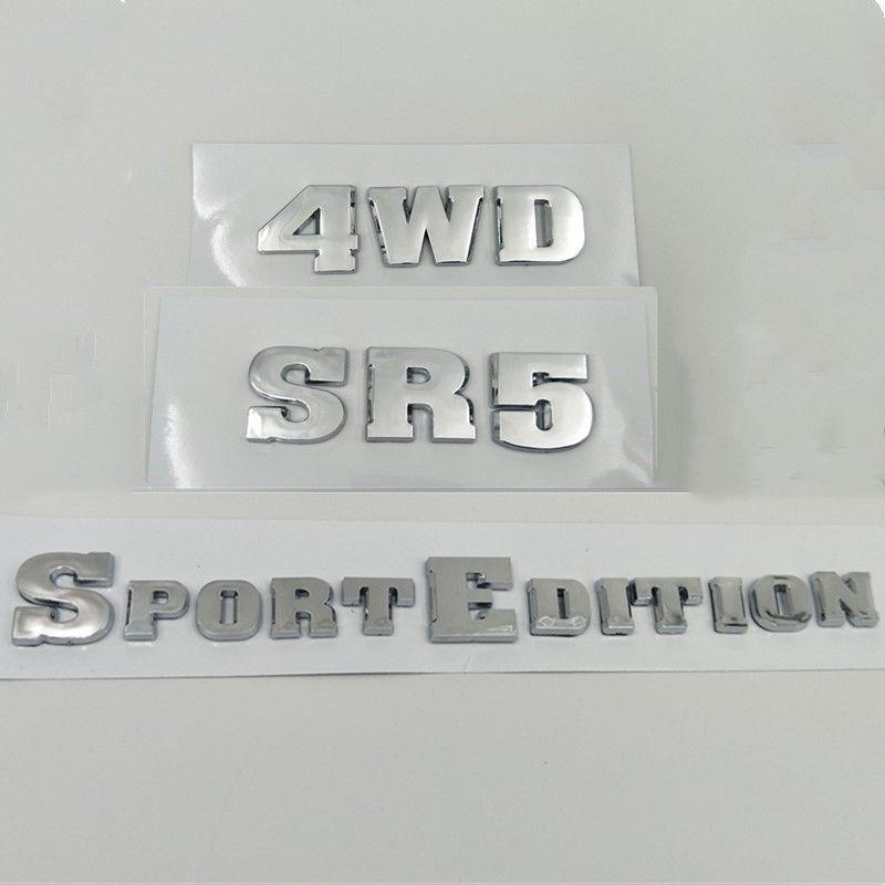 2003-2009 Para Toyota 4Runner Sport Edition SR5 4WD Tronco Rear Lid Emblem Side Door Fender Logo Auto Adesivos