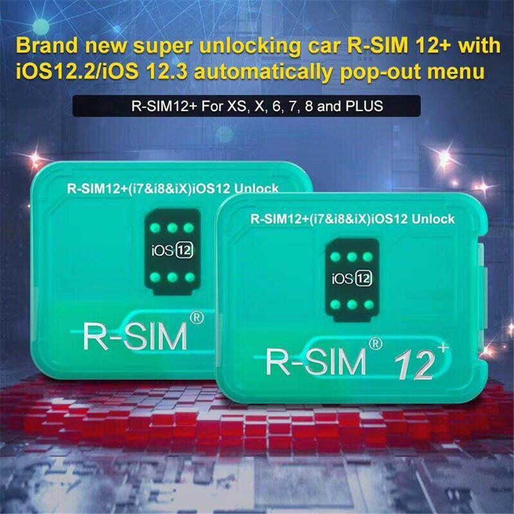 2019 newest unlock iccid card rsim12+ for iphone8 7 6 iphone xs max xr x iOS 12.x-7.x 4G unlock VS RSIM 14