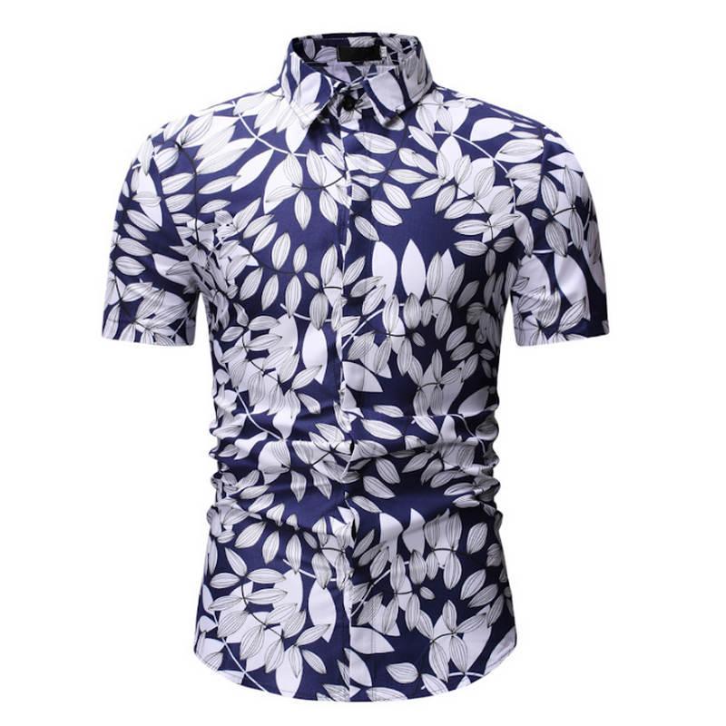 Mens Summer Beach Hawaiian Shirt 2018  Short Sleeve Plus Size Floral Shirts Men Casual Holiday Vacation Clothing Camisas