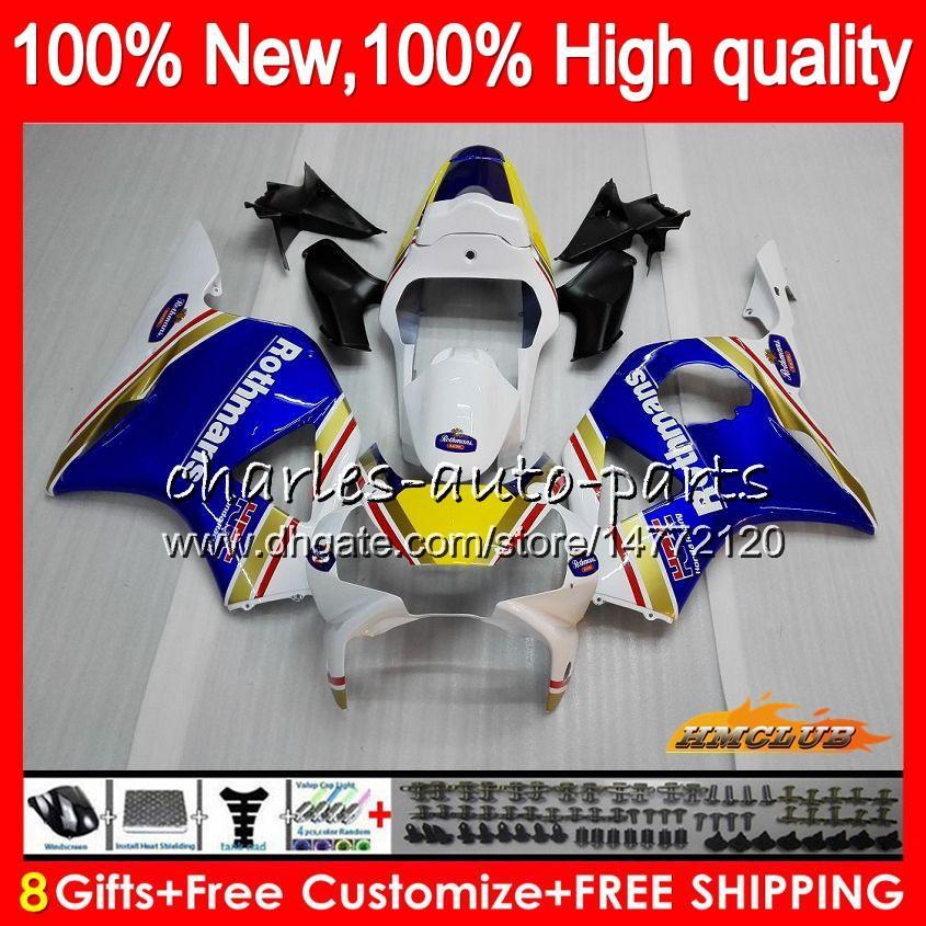 2002 03 페어링 차체를 들어 HONDA CBR954RR CBR900RR 로스 만 블루 CBR900 CBR954 RR 02 2003 77HC.13 CBR 900CC 954 900 CC RR CBR 900RR 954RR