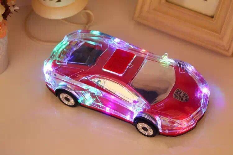 شكل كريستال ملون LED ضوء MLL-63 سيارة ميني المحمولة Wieless مكبر الصوت مكبر الصوت دعم TF FM MP3Music لاعب