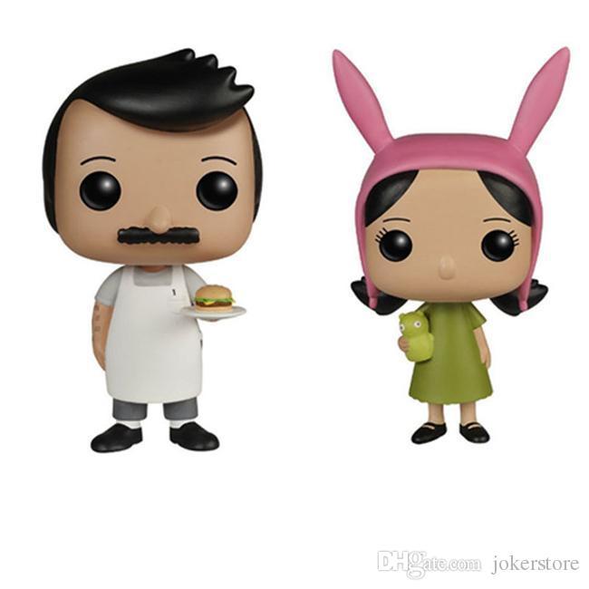 Funko Pop Bob's Burgers BOB BELCHER 74# Louise BELCHER 78# Anime Figures Collection ModelHot Toys Birthdays Gifts Doll Free Shipping
