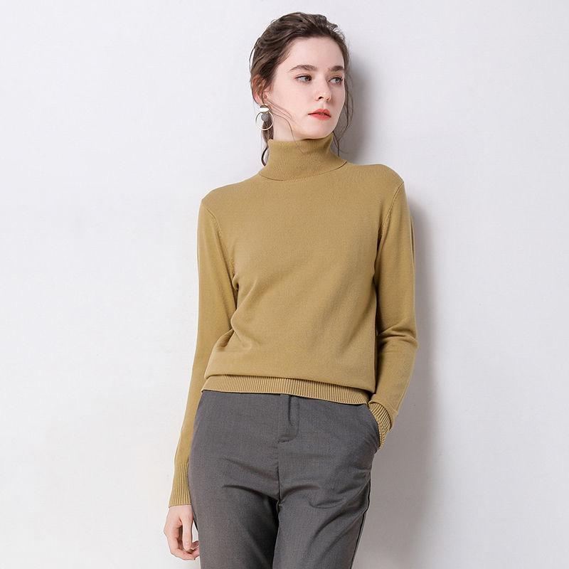Женская водолазку Пуловеры Свитера 2020 Мода зима осень трикотажные свитера женщин свитер Бестселлеры