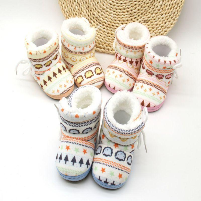 0-12 Months Baby Infant Toddler Newborn Kids Shoes Cotton Padded Snowshoes Winter Warm Boots Mix Color Wholesle 30 Pairs