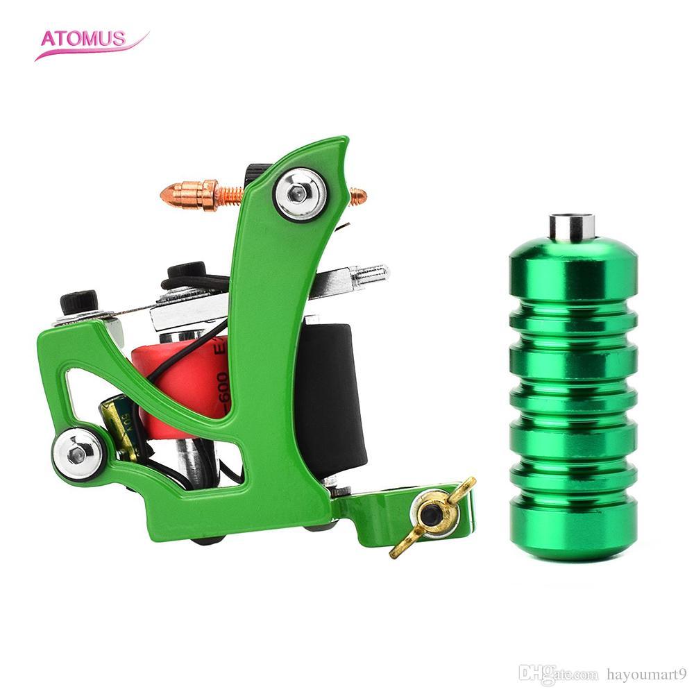 Tatouage bobine machine Kit Set débutant avec Gun Grip Tattoo machine 10 bobines Wrap Grip Tattoo Machine Gun 10 bobines de synthèse