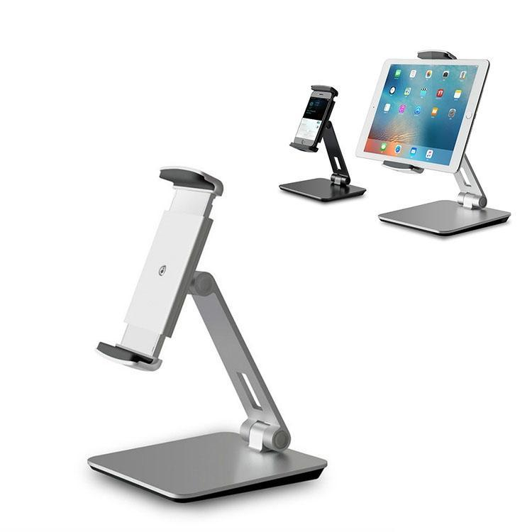AP-7X Universal Aluminum Stand Desk Mount Holder for 4.7-9.7 inch Phone & Tablet PC