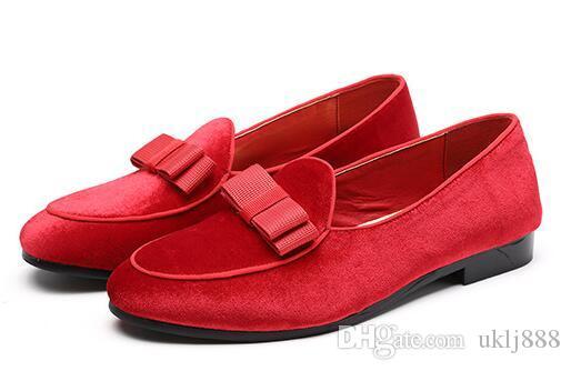 Высококачественные Мужские Кожаные Ботинки Бантом Замшевые Мокасины Свадебные Формальные Ботинки Мужчины Квартиры Господа Повседневная Slip-on Business Shoes