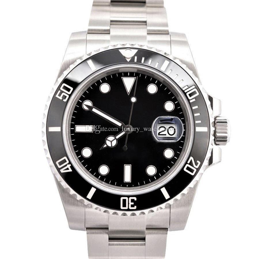 Mens Watch 116.610 Top Quality 40 milímetros Ceramic Bezel 2813 relógio mecânico automático de aço inoxidável impermeável Luminous Sapphire relógio de pulso