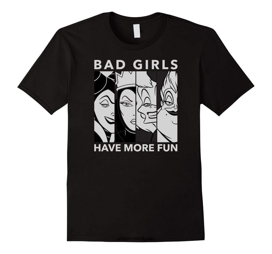 Komik Erkekler T Gömlek Kadınlar Yenilik Tshirt Kötüler Kötü Kız T Gömlek Erkekler Baskı Pamuk O Boyun Gömlek
