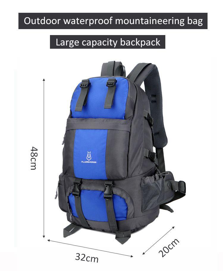 Mochila para hombres al aire libre 50L senderismo ev bolsa de nailon geçirmeyen viaje equipaje mochila gran capacidad montañismo bolsa