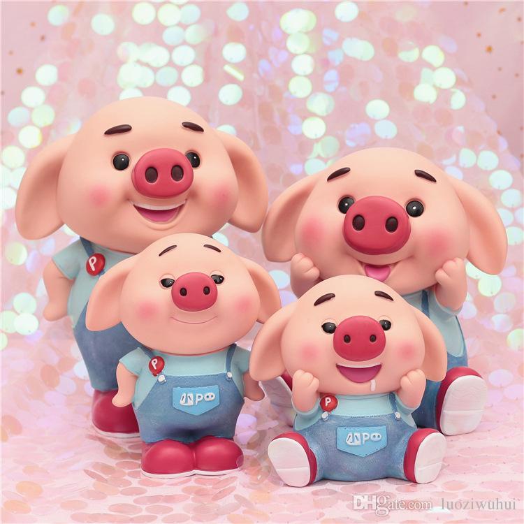 2020 Cartoon Pink Little Cute Pigs Fall