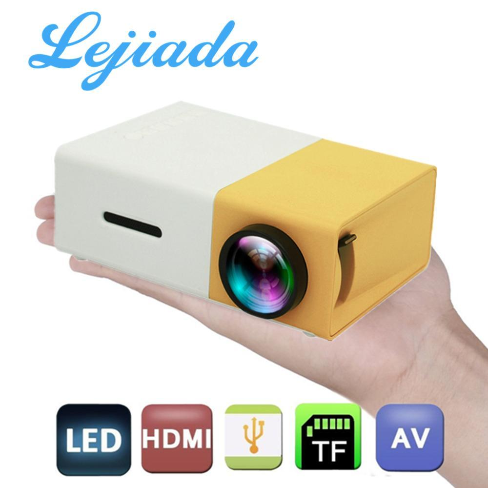 HOT yg300 LED Mini YG-300 Projector 1080P Full HD Supported HDMI USB AV TF PS4 Portable Projector Home Media Player