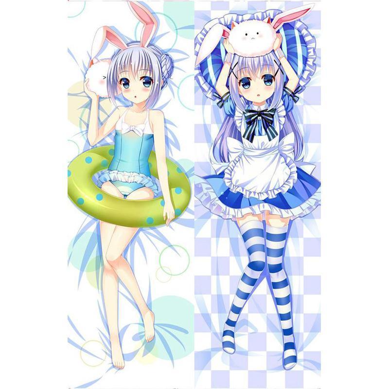 Pillow Case Anime Is the order a rabbit Kafuu Chino Dakimakura Hugging Body