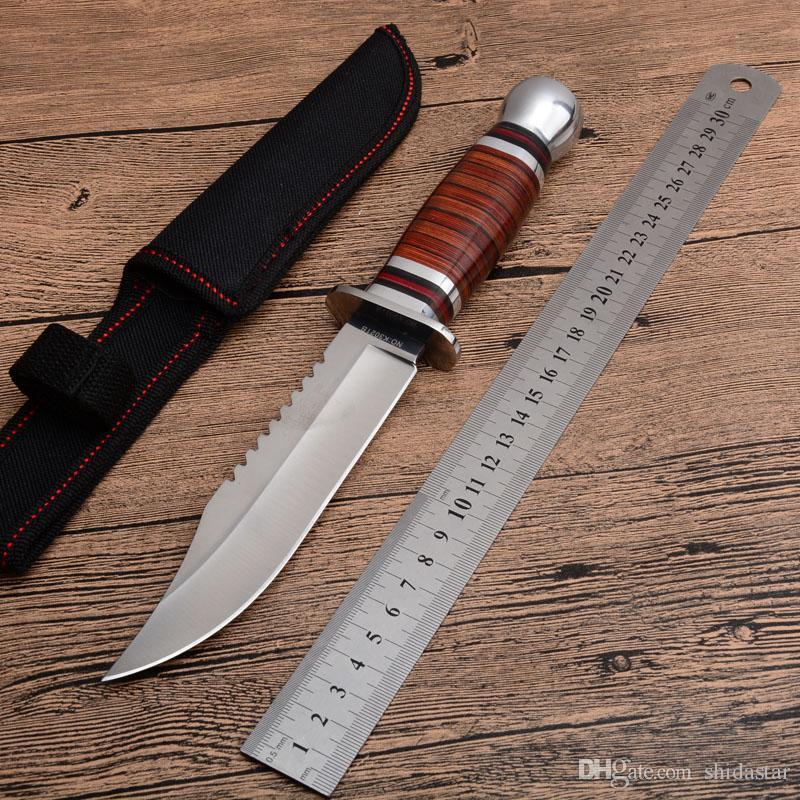 2019 K3021B ثابت بليد سكين الخشب مقبض 3cr13mov المقاوم للصدأ بليد التكتيكية التخييم الصيد بقاء الانقاذ أدوات edc