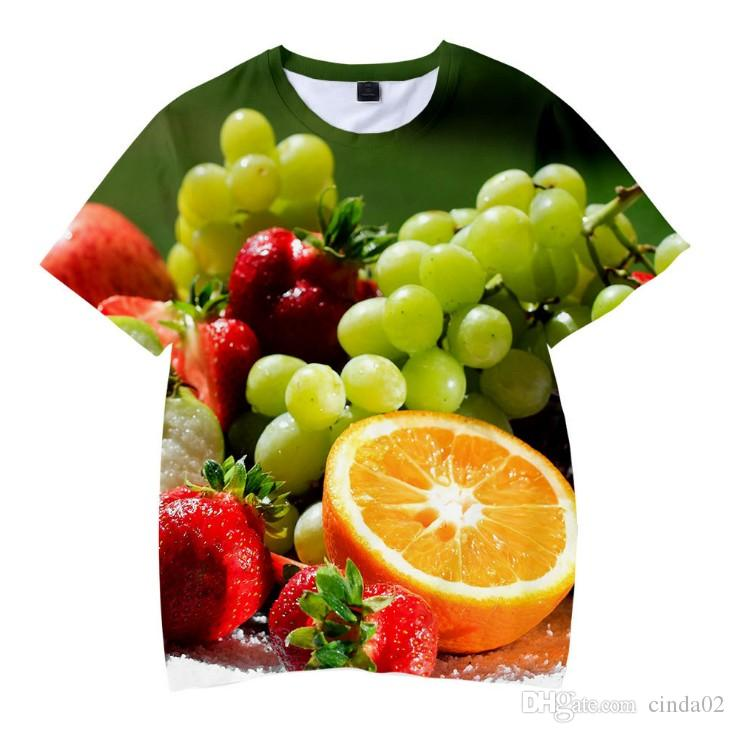 Estate Casual 3D T-shirt uomo Frutta stampa fresca maniche corte Tshirt uomo pantaloncini streetwear homme hip hop