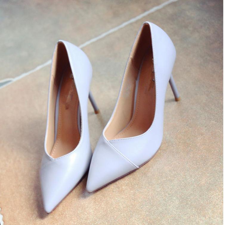2020 весна и осень с новым стилем мода высокий каблук тонкий каблук острый конец Женская обувь@MQWBH737
