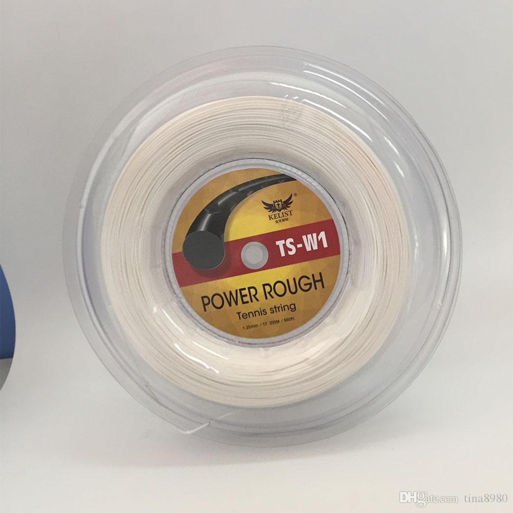 White color Luxilon quality tennis strings 17L KELIST Alu power rough 125 quality polyester tennis string 200m For Racket