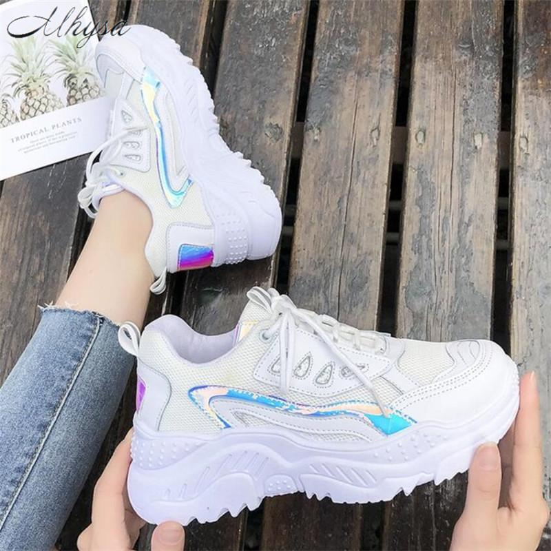 Mhysa 2019 dames chaussures de sport mode chaussures casual dames respirant confortable maille chaussures plates