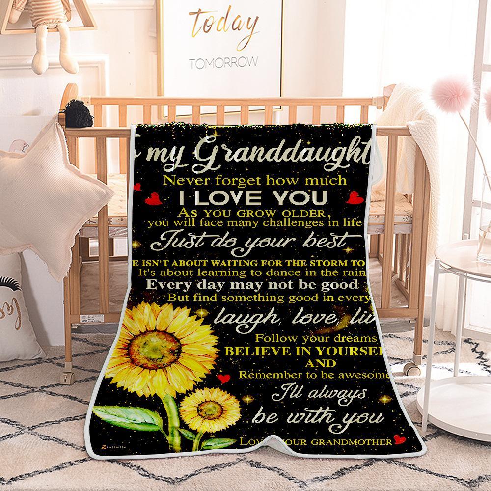Sonnenblume gedruckt Decke Single Layer Fleece Klimaanlage Decken Samt Teppich Nickerchen Cape Kinder Erwachsene Brief Mantel 6styles GGA2661