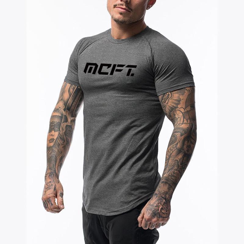 Nova Academia Esporte shirt Homens Cotton Imprimir Tops Slim Fit homens correndo shirt Gym T Esporte Tees Halterofilismo Workout tshirt