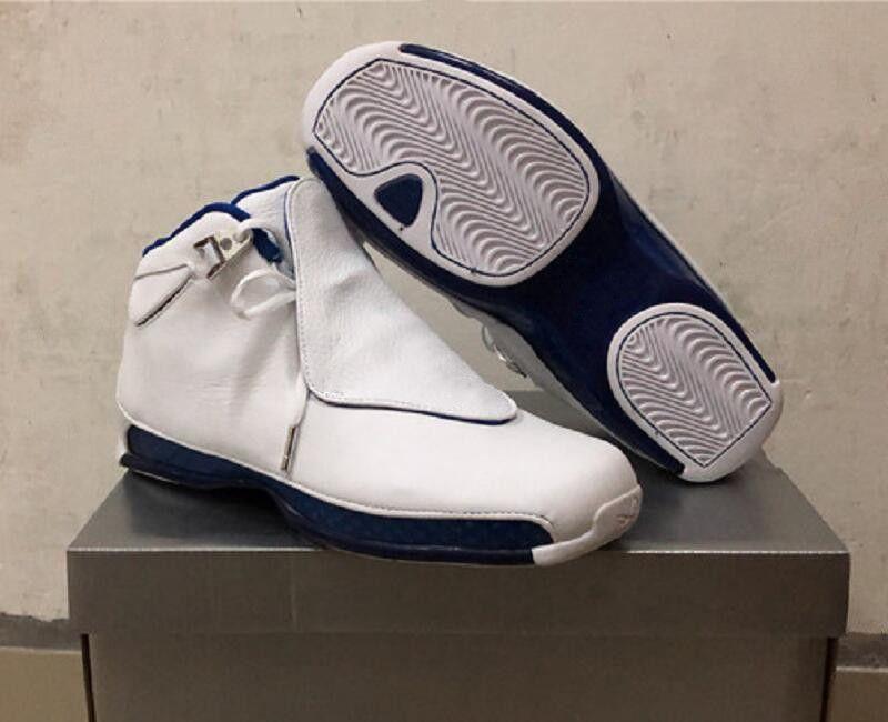 Zapatos de diseñador de baloncesto para hombre de primera calidad con 18 zapatos de Royal Wizards para hombre Zapatillas de deporte de la moda en plata metalizada blanca XVIII más nuevas con caja