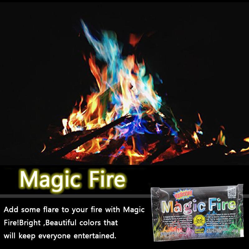 모닥불 캠프 파이어 파티 벽난로 불길 파우더 불꽃 놀이 완구 신비로운 화재 마술 트릭 컬러 매직 화재 불꽃