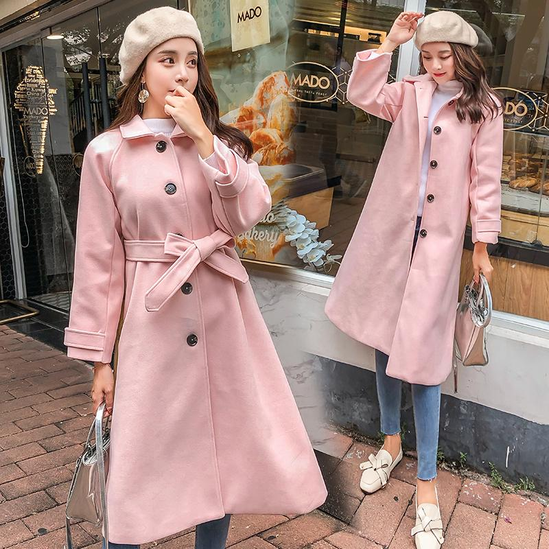 2019 best sell unique design attractive fashion 2019 Autumn Winter New Plus Size Pink Cape Coat Women 2018 Korean Thick  Wool Coat Female Elegant Jackets Long Sleeve Solid Outerwear From Balsamor,  ...