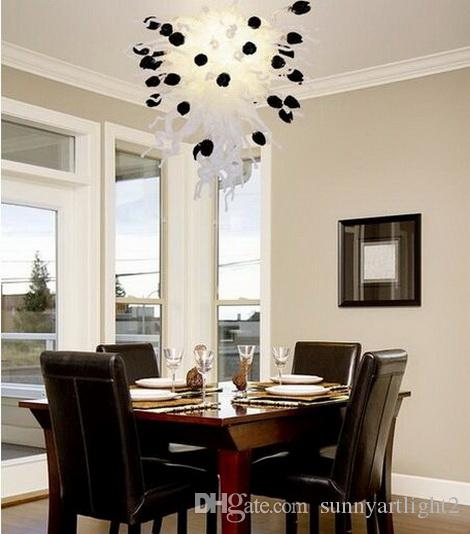 Venda quente Artesanal Blown Art Lustre De Vidro Luz para Decoração de Casamento Personalizado de Cristal LED Pendurado Lâmpadas de Pingente De Vidro