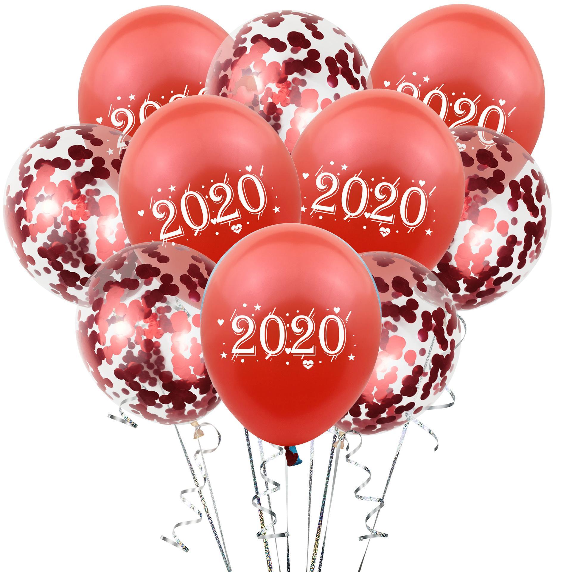 10PCS Happy New Year Balloon Christmas Latex Balloons Home Party Decoration 12/'/'