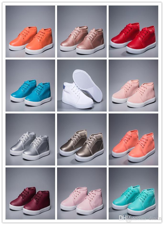 Neue hochwertige Krokodil Marke Frauen Schuhe Leder High Top Freizeitschuhe Mode Turnschuhe Luxus Designer-Turnschuhe Lacos original box