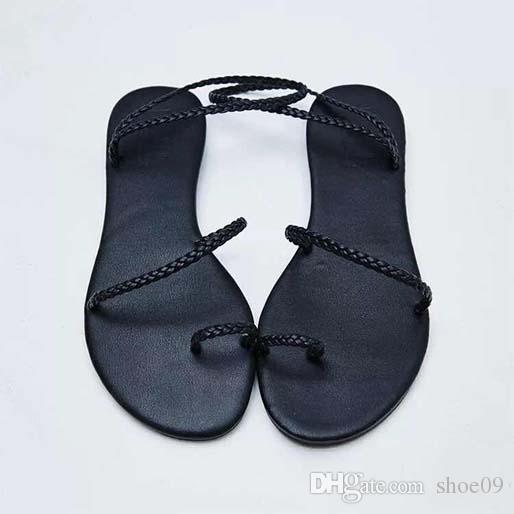 Print-Leder-Frauen Upscale Nomad Sandale Striking Gladiator-Art-Leder Sohle Perfekte flache Segeltuch Plain Sandale shoe09 p41