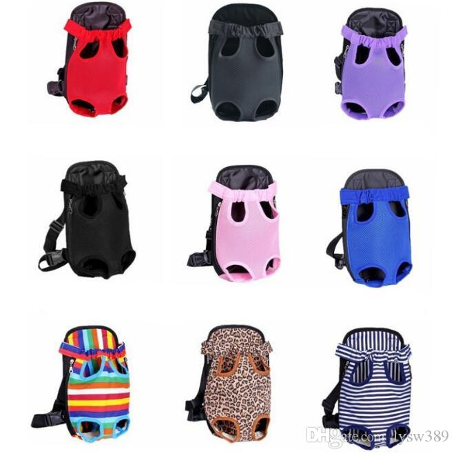 PET Backpack Outdoor Folding Portable Breathable Carrier Cat Dog Shoulders Bags Nylon Mesh Prethoracic Pets Supplies HA159