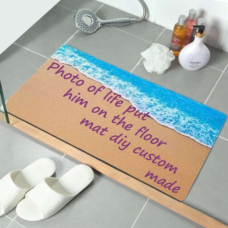 40x60cm favorito DIY paisaje autofoto foto privada de impresión personalizada exclusiva Felpudo Alfombra de baño al aire libre ducha antideslizante Piso Moqueta