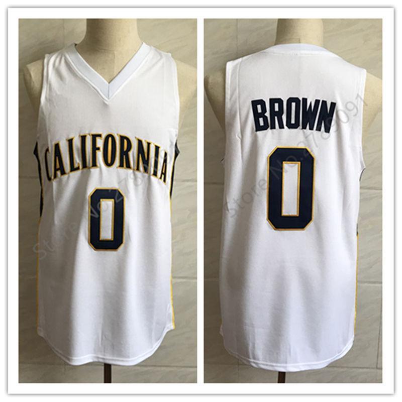 # Classic Cal de California Golden Bears Colegio retro blanco Baloncesto Jersey para hombre cosido número personalizado y nombre 0 Jaylen Brown jerseys