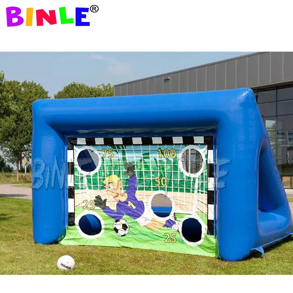 الرياضة في الهواء الطلق ألعاب 4x2m المحمولة لكرة القدم للنفخ لكرة القدم لعبة إرم والهدف لكرة القدم، قابل للنفخ لكرة القدم هدف اطلاق النار