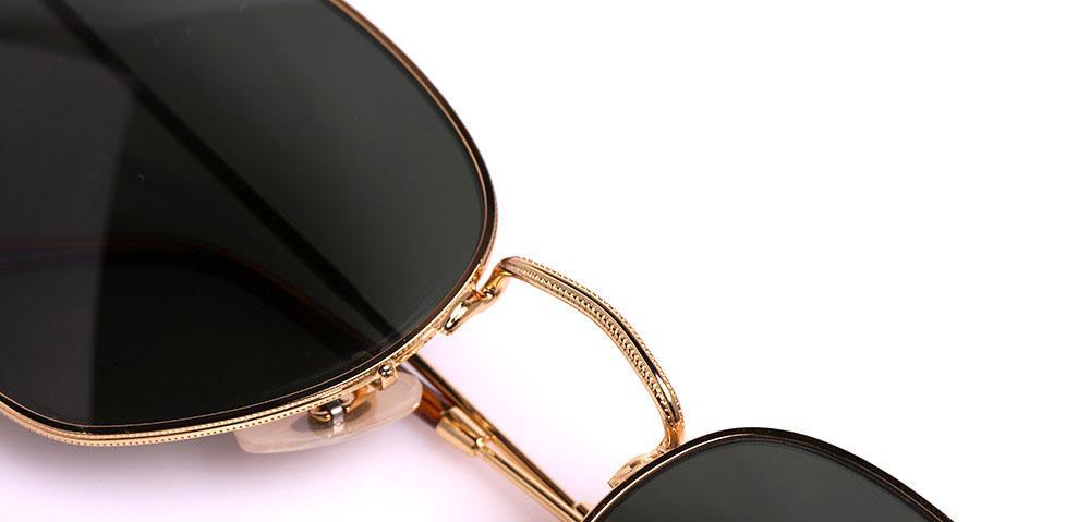 Wholesale- Hexagonal Sunglasses Men Women Vintage Hexagon sun Glasses uv400 glass Lens Steampunk Goggles with Retail box and label