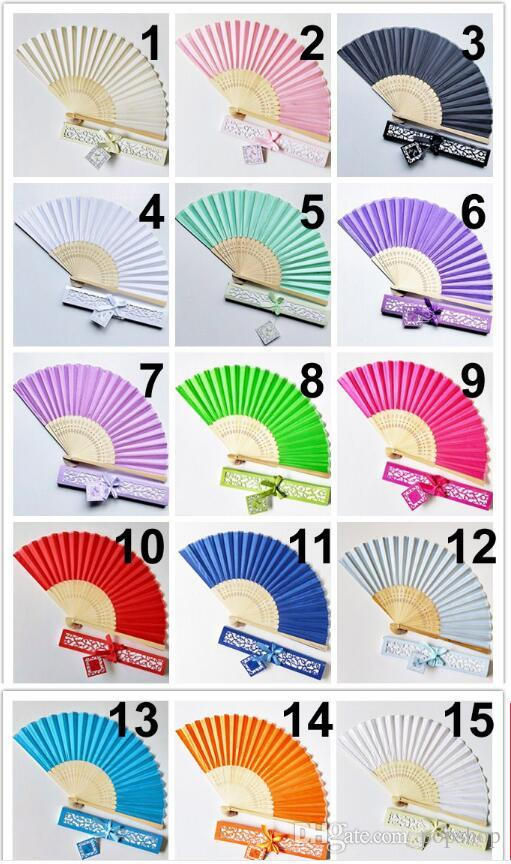 10pcs Personalized Luxurious Silk Fold hand Fan in Elegant Laser-Cut Gift Box +Party Favors/Wedding Gifts