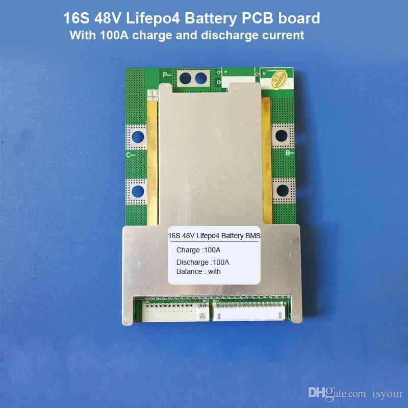 Бесплатная доставка 16S 48В Lifepo4 батареи BMS и 58,4 В или 57,6 В Lifepo4 электрической батареи скутера PCB для двигателя менее 2500 Вт