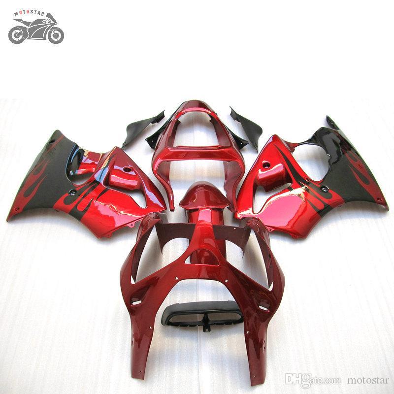 Moldeo por inyección carenados kit para Kawasaki Ninja ZX6R 2000 2001 2002 636 00 01 02 ZX6R ZX 6R carreras de carretera carenado de la motocicleta ABS