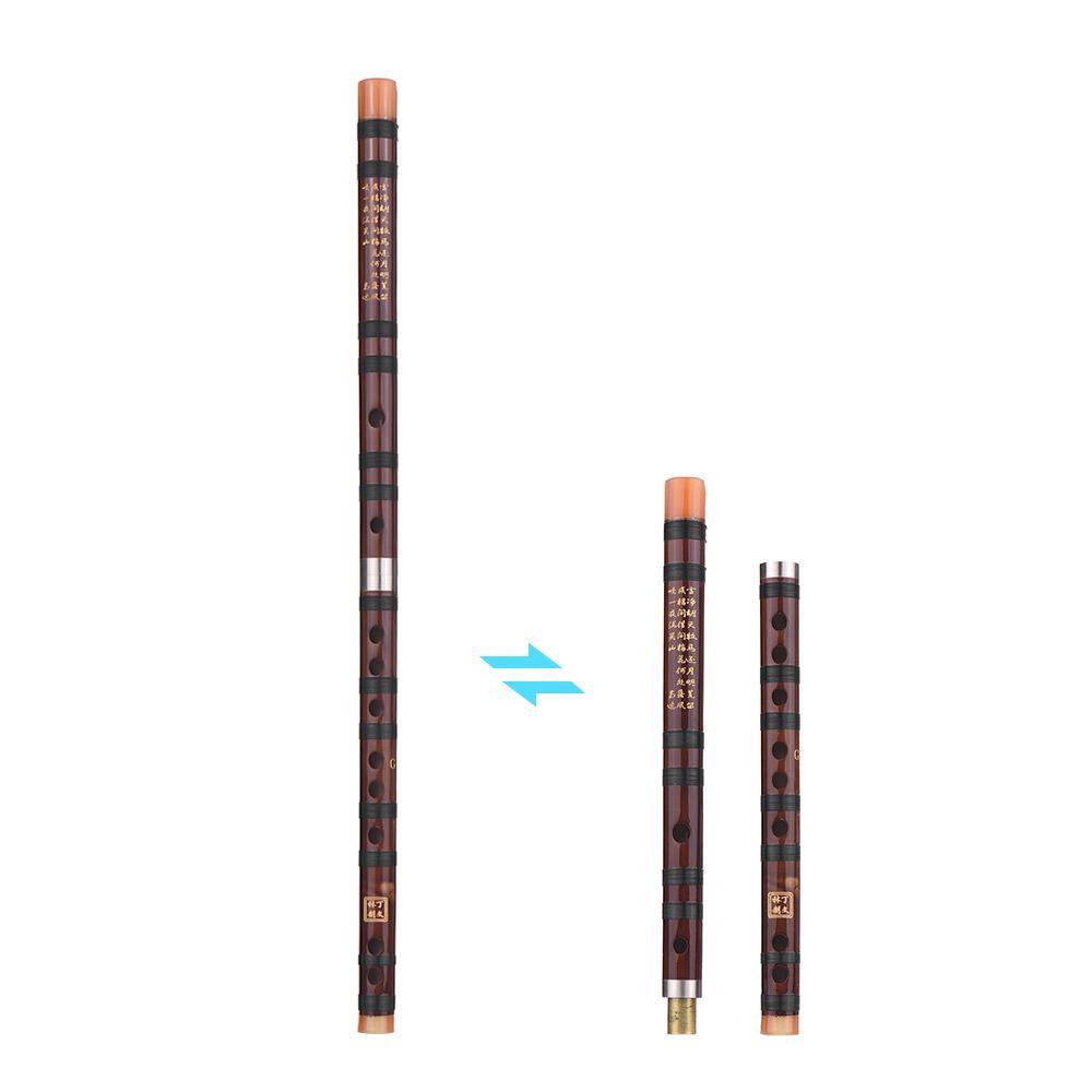 Gute Qualität chinesische traditionelles Instrument Dizi Bitter Bambusflöte mit chinesischem Knoten für Anfänger C / D / E / F / G (optional)