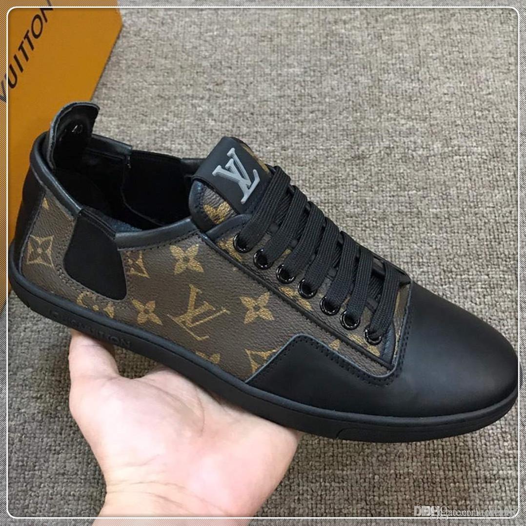 Luxe Hommes Chaussures de haute qualité Chaussures de sport d'hiver Chaussures Hommes Casual Lo Baskets montantes Herrenschuhe luxe Chaussures Hommes Drop Ship avec la boîte originale
