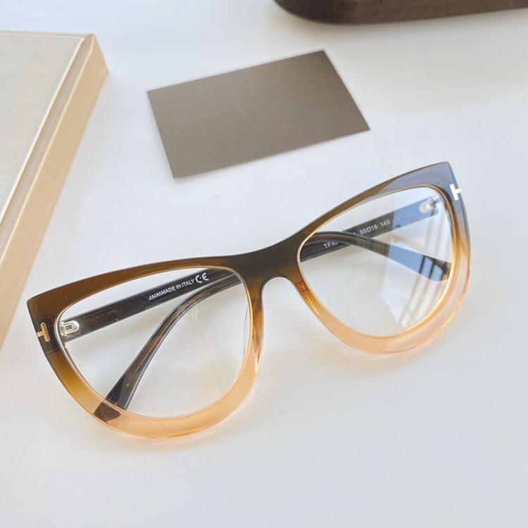 حجم مبيعات أحدث من TF5519 النساء مثير Bigrim عين القط قرص إطار وصفة طبية قصر النظر نظارات 55-16-140 نظارات ذات جودة عالية