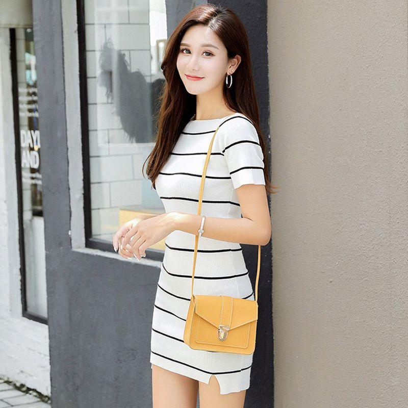 Mode Kleine Umhängetaschen für Frauen 2019 Mini PU-Leder-Schulter-Kurier-Beutel für Mädchen Gelb Bolsas Damen Phone Purse