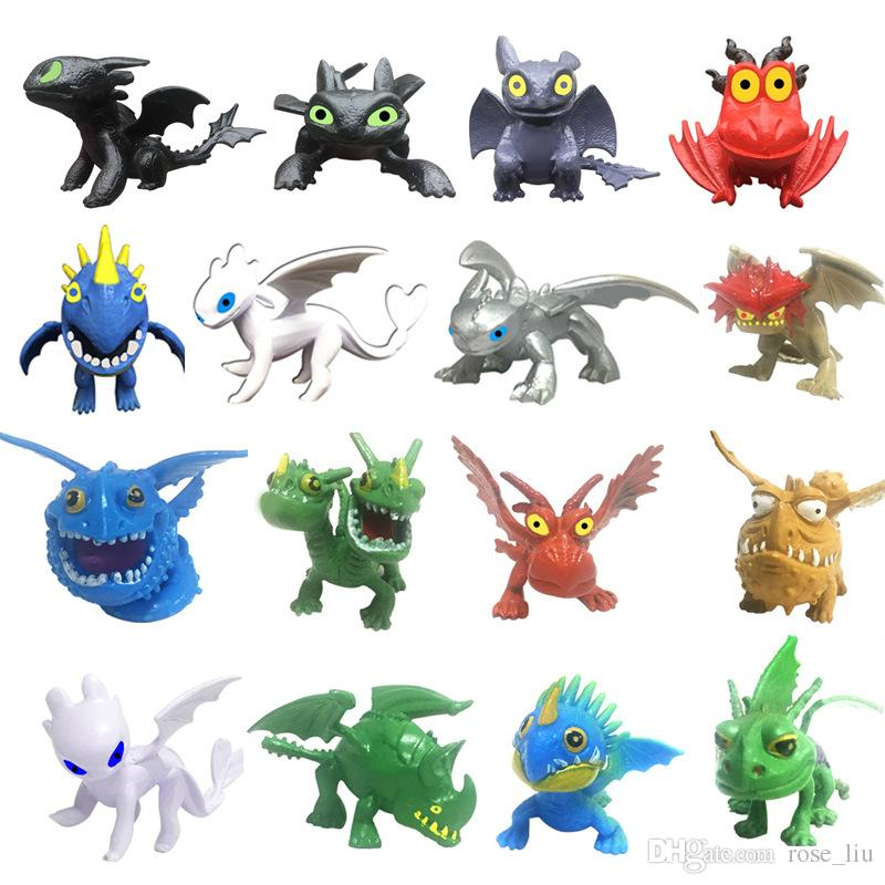New How To Train Your Dragon 3 PVC Figure Toys Hiccup Toothless Skull Gronckle Deadly Nadder Night Fury Toothless Dragon Figures C32
