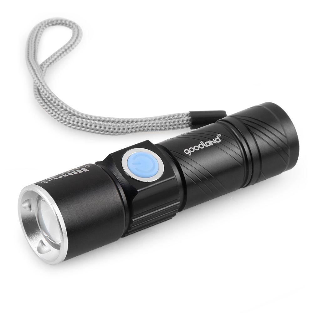 새로운 도착 2000LM 슈퍼 밝은 Q5 전술 충전식 방수 USB 손전등 토치 줌 조절 브랜드 새로운