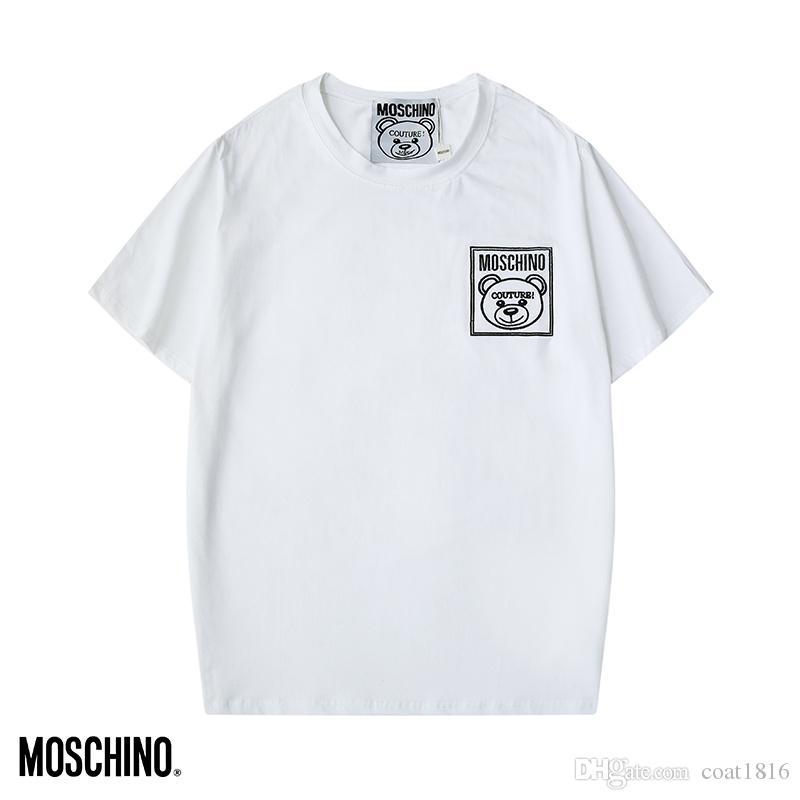 2020 l'été T-shirt des hommes et des femmes haut de gamme italienne T-shirt ours mode impression marque manches courtes T-shirt