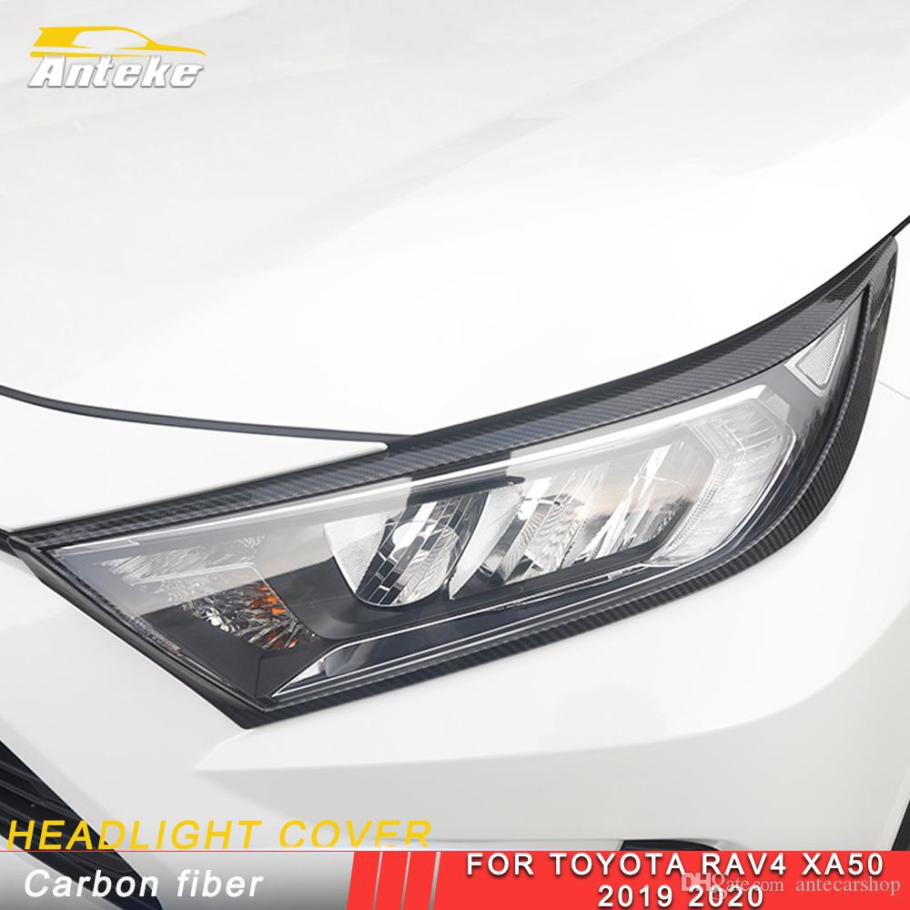 For Toyota Rav4 Rav 4 XA50 2019 2020 Car Front Headlight Cover Trim Protector Frame Sticker Chrome Exterior Accessories