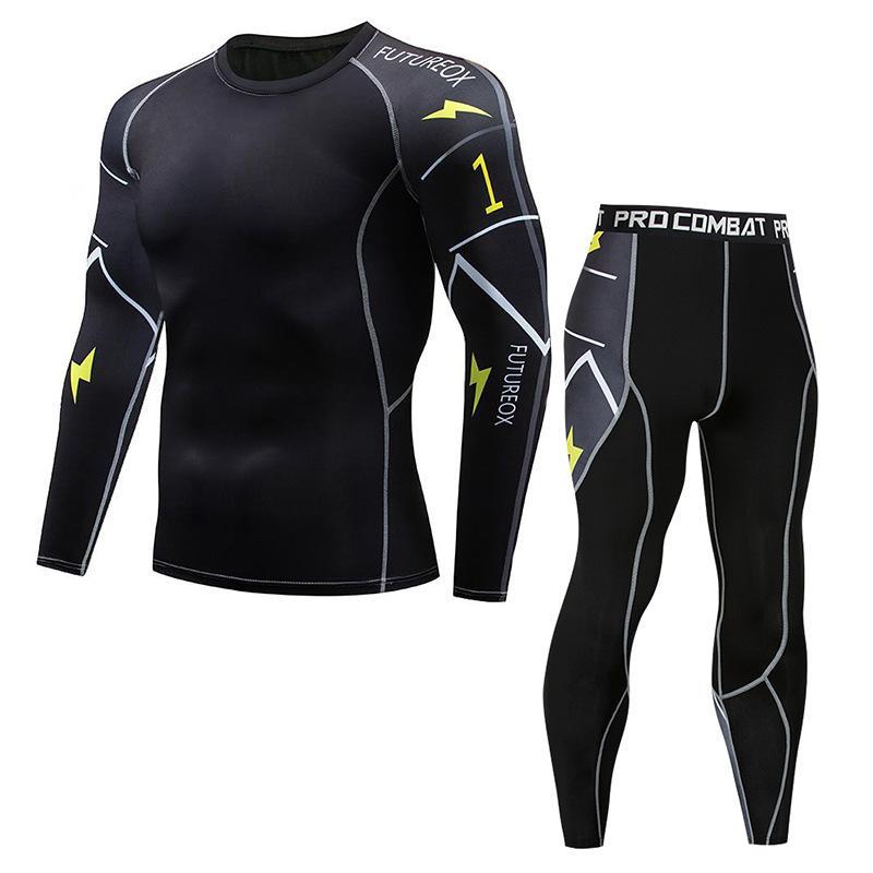 Tute compressione fitness Bodybuilding Shapers Sport Collant a manica lunga Movimento Quick-Dry Super Flexible Suit traspirante