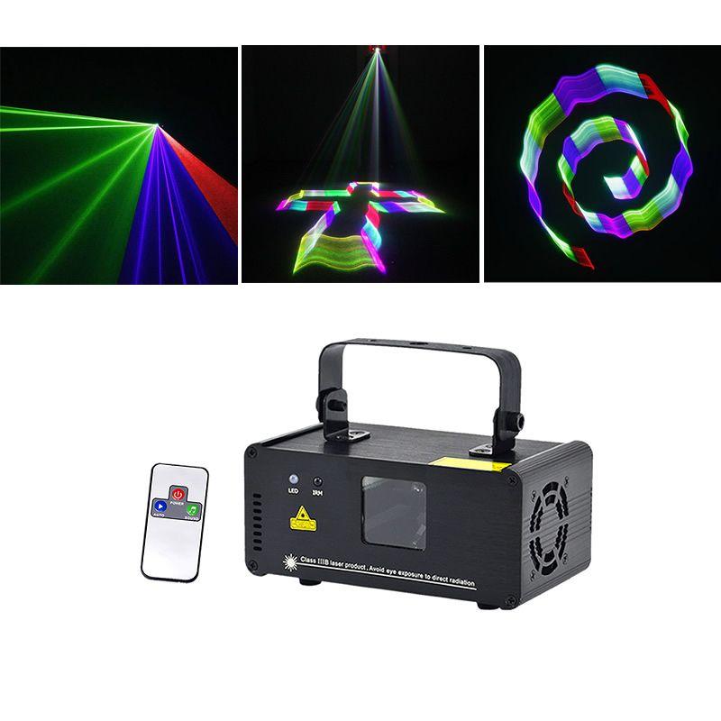 Sharelife Mini 3D RGB Tam Renkli DMX Lazer Tarama Işık Uzaktan Müzik TDM-RGB400 Aydınlatma DJ Ev Partisi Gig Işın Etkisi Stage PRO