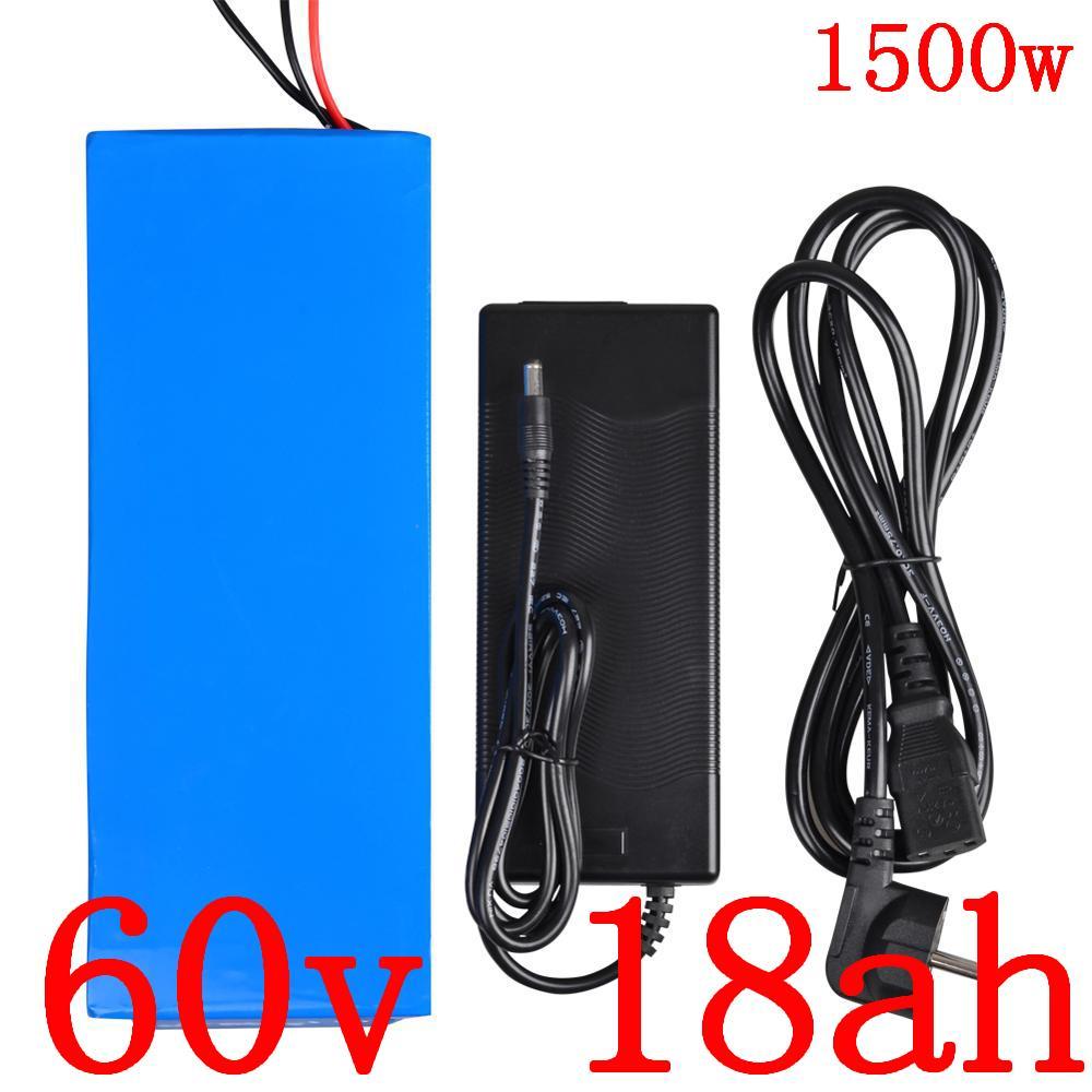 60V batteria al litio scooter elettrico 18AH bicicletta per 1000W 1500W 1800W motore ebike